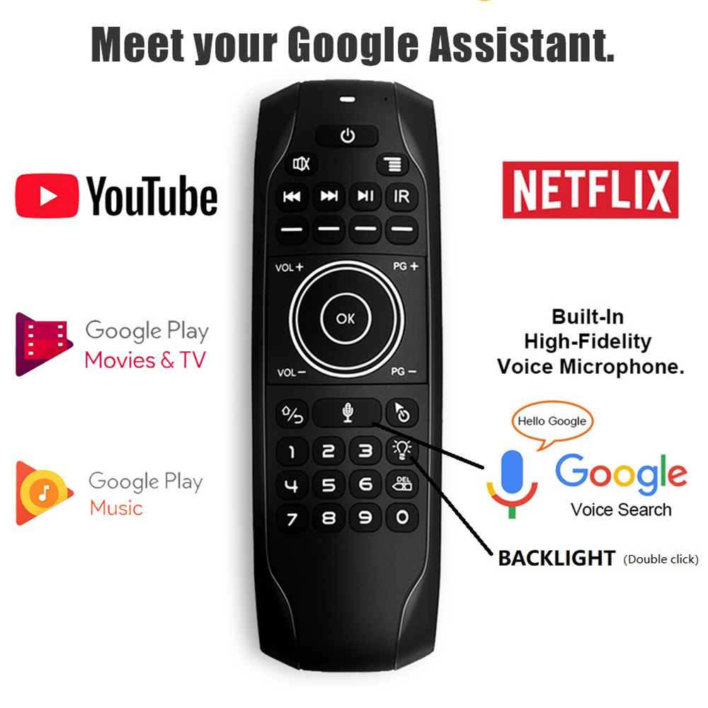 L8STAR G7 Backlit Voice Search Smart Air Mouse Remote control Gyro IR Learning 2.4G Wireless Mini keyboard for Android TV BOX(China)