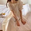 Fdfklak; Популярная модная обувь для студентов; Одежда для сна Ночная летняя хлопковая футболка с короткими рукавами; Ночные рубашки для девоче...