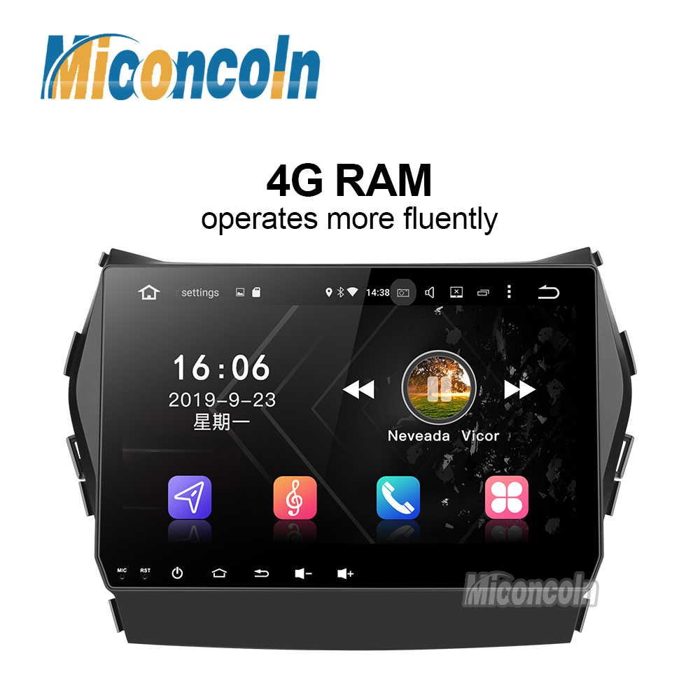 4G RAM DSP Android 9.0 auto radio dvd navigatie gps video radio speler 1 din voor Hyundai IX45 Santa fe 2013 auto navigatiesoftware unit