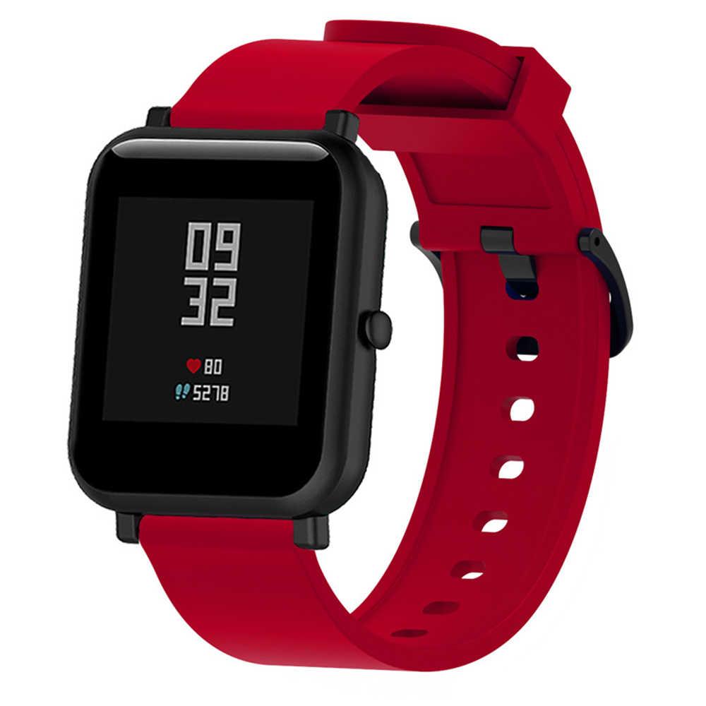 רך סיליקון ספורט שעון רצועת לxiaomi Huami Amazfit ביפ צמידי חכם שעון 20MM החלפת להקת Smartwatch אבזרים