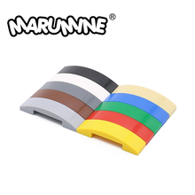 Marumine 93273 slope curved 4 x 1 double no studs model accessories construction kit plastic building bricks Toys Hobby Modeling