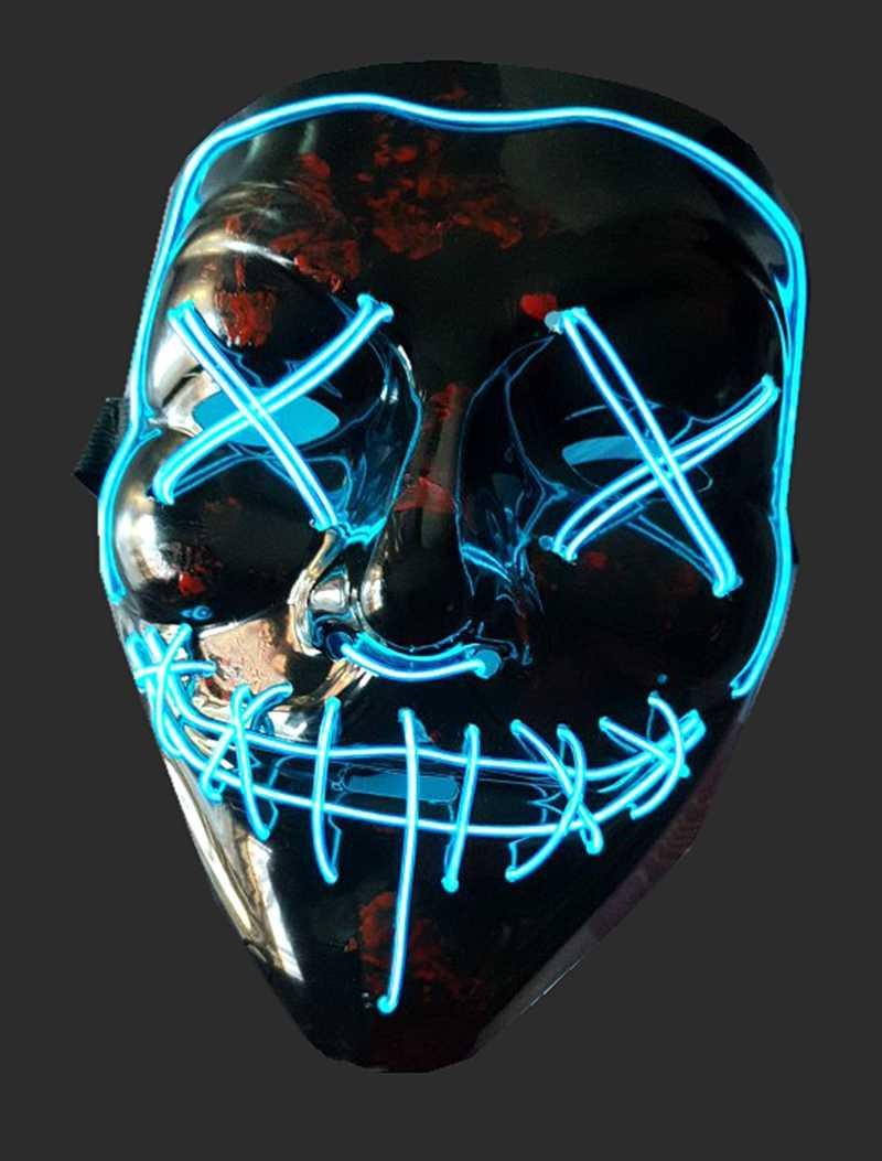 Rave Festivals Halloween Costume Halloween Mask LED Light up Mask for Festivals and Cosplay