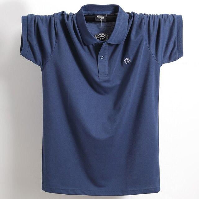 Oversize 5xl 6xl polo dos homens 2021 verão novo 95% algodão polo camisa masculina casual solto topos de alta qualidade respirável plus size polo 1