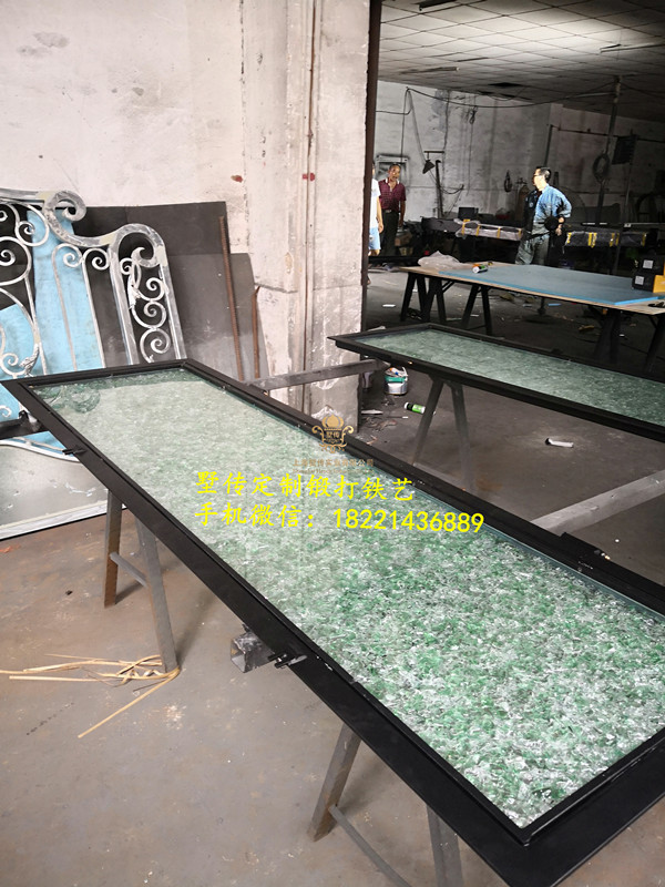 Shanghai Hench Brand China Factory 100% Custom Made Sale Australia Wood And Wrought Iron Doors