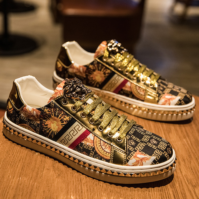 New Design Fashion Embroidered Sneakers Men Board Trainers European Style Bling Hip hop Mens Sneakers Shoes zapatillas superstar|Skateboarding| |  - title=