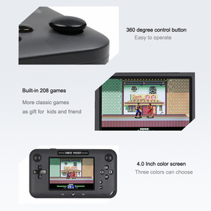 Image 3 - Retro Draagbare Mini Handheld Game Console 8 Bit 4.0 Inch Video Game Ingebouwde 208 Games Voor Video uitgang Game Console