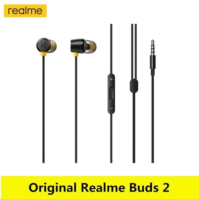 מקורי Realme ניצני 2 אוזניות 3.5mm אוזניות אוזניות Wired מגנטי עבור Smartphone Realme 6 פרו 6 6i X50 פרו x2