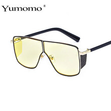 YUMOMO New Fashion Style 2019 Siamese Sunglasses Women Brand Designer Sun Glasses Square UV400 gift