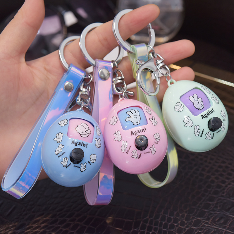 Creative Finger-guessing Game Simple Design Fashion Young People Color Keyring High Quality Girls & Students Multicolor Keychain