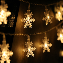 5M 20LED 220V EU LED Christmas Snowflake Fairy Garlands Light String Lights Outdoor/Indoor For Xmas  Party New Year Decoration