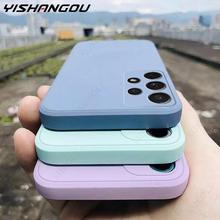 Camera Protector Liquid Silicone Phone Case For Samsung A52 A72 A32 4G A21S A42 A31 A41 A50 A70 A71 A51 Original Cover Cases