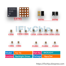 5 ชุด (80 pcs) /lot IC Chip Diode Capacitor U3701 D3701 D3702 C3702 C3725 C3703 สำหรับ iphone 7 Dim ไม่มี LED backlight Driver fix ชุด