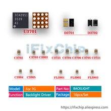 5 bộ (80 chiếc) /Nhiều VI MẠCH Diode Tụ Điện U3701 D3701 D3702 C3702 C3725 C3703 Cho iPhone 7 Mờ không ĐÈN nền LED Lái Xe cố định bộ