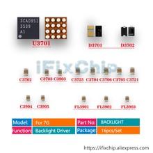 Диодный конденсатор с микросхемой IC, 5 комплектов (80 шт.)/партия, U3701, D3701, d37701, D3702, C3725, c37703 для iphone 7, Dim, комплект для фиксации без светодиодной подсветки