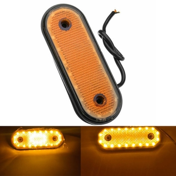10pcs set 12v 6led yellow waterproof truck trailer lorry bus side marker light indicators signal light 10pcs 20Led Yellow Side Marker Light 24V Led Rear Clearance Lamp Tail Lights for Truck, Rv Trailer Lorry Pickup Boats