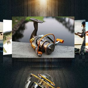 YUMOSHI рыболовные катушки 10 шариковых подшипников с металлической ручкой JC1000-7000