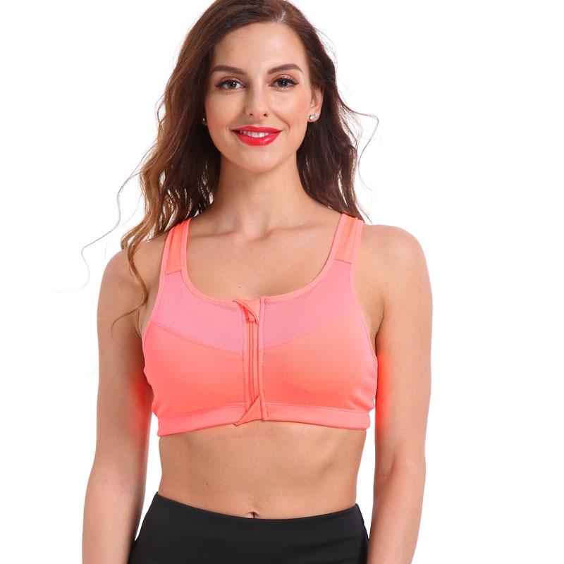 Women's Zipper Push Up Sports Bra 16