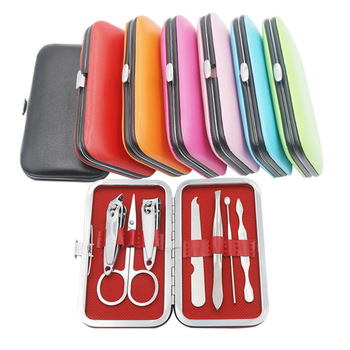 Nail Care Tool 7 Pcs Cutter Cuticle Clipper Manicure Pedicure Nail Clippers Pliers Dead Skin Gift Set Body Cleaning Tools 16pcs set nail clipper cutter file manicure pedicure tool with faux leather case