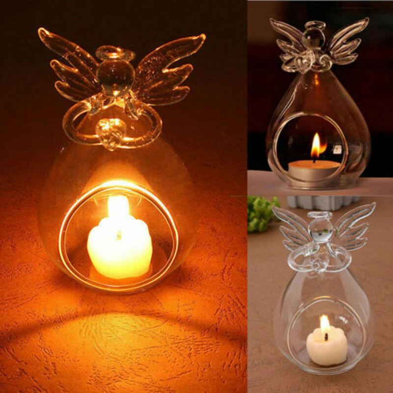 Xmas Glass Brown Star Wind Light Christmas Winter Candle Holder Tealight NEW