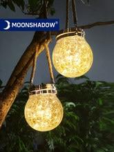 MOONSHADOW-Luz Solar Led redonda para exteriores, lámpara de hadas Solar para jardín, decoración para balcón, fiesta, patio, luz nocturna de estrellas