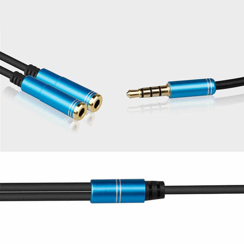 Наушники Общий адаптер Шнур 3,5 мм вход для источника аудио-сигнала штекер 2 гнездовой разъём наушников удлинитель сплиттер AS99