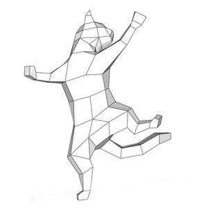 Image 1 - DIY بها بنفسك ديكور المنزل لطيف القط ورقة نموذج لغز لعبة الحيوان لمطعم مخزن بار مقاوم للماء التعليمية للطي لعبة مجسمة