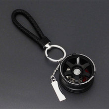 Car Key Chain Wheel For Ring Holder Auto Aluminum Wheels Rim Model Keyrings Keys Accessories Motorcycle Pendant Keychain