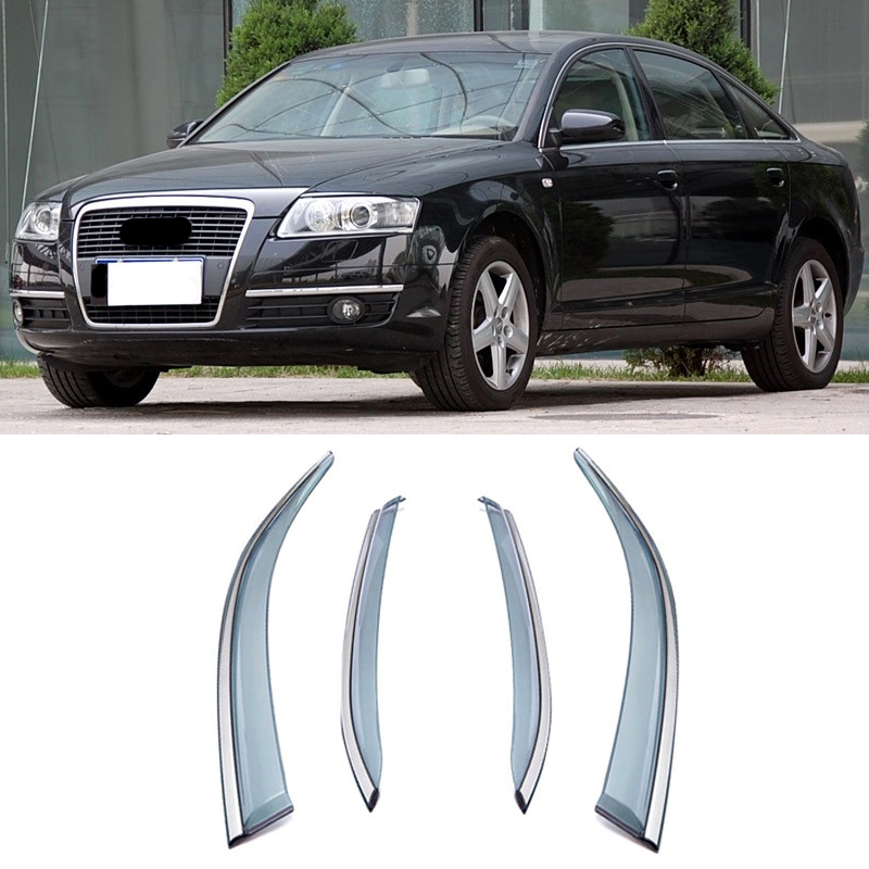 Side Wind Window Deflectors Visor For Car Windshield On The Windows Accessories For AUDI A6 C6 2006 2007 2008 2009 2010 2011