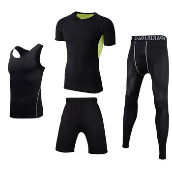 Men Sportswear Compression Sport Suits Quick Dry Running Sets Clothes Sports Joggers Training Gym Fitness Tracksuits Running Set 9