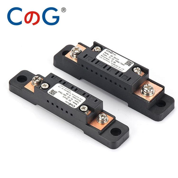 10A 15A 20A 30A 50A 75A 100A CG FL-2C 75mV Digital Voltage Meter DC Analog Ammeter Current Shunt Resistor Manufacturer With Base