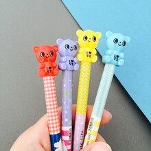 60 pièces kawaii crayon automatique 0.5mm 0.7mm lot mignon ours crayons mécaniques enfants école bureau fournitures décriture crayon coréen