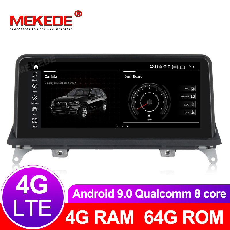 8 cœurs 4G + 64G android 9.0 lecteur multimédia de voiture Navigation GPS radio pour BMW X5 E70 X6 E71 2007-2013 Original CCC ou CIC