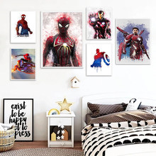 Marvel Avengers Captain America Iron Man Canvas Paintings Comics Posters and Prints Wall Art Picture for Living Room Home Decor