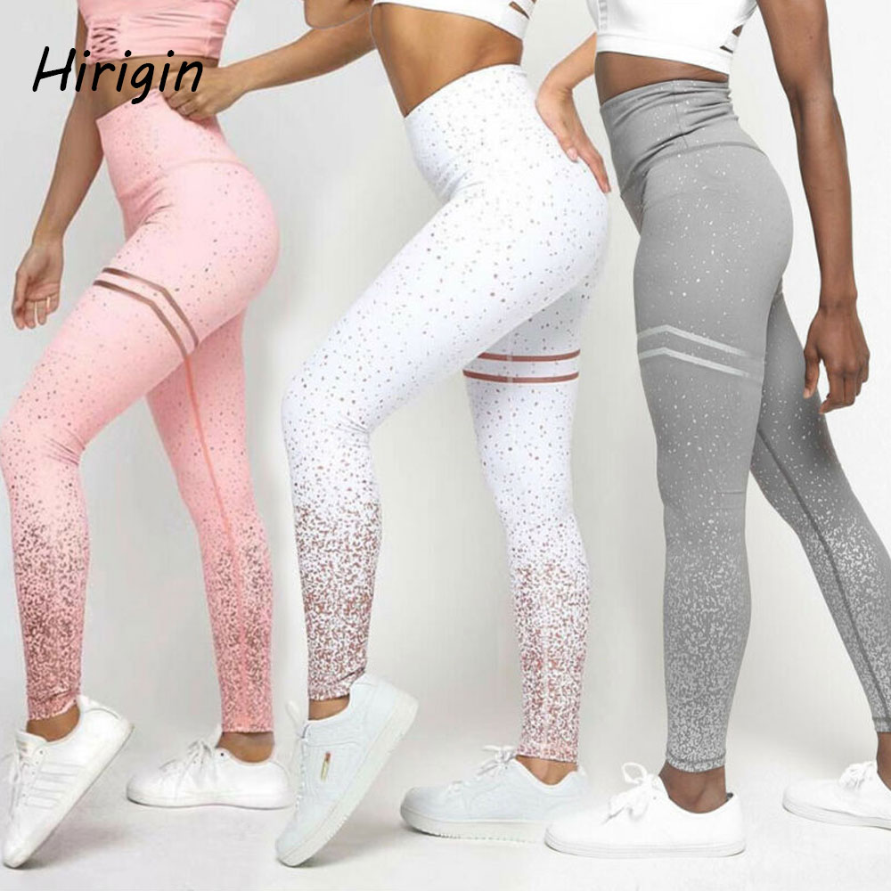 Hot Sale Women Sexy slim sports Pants Gym glitter sequin Leggings Slim Fitness High Waist casual pants Workout pants 2020