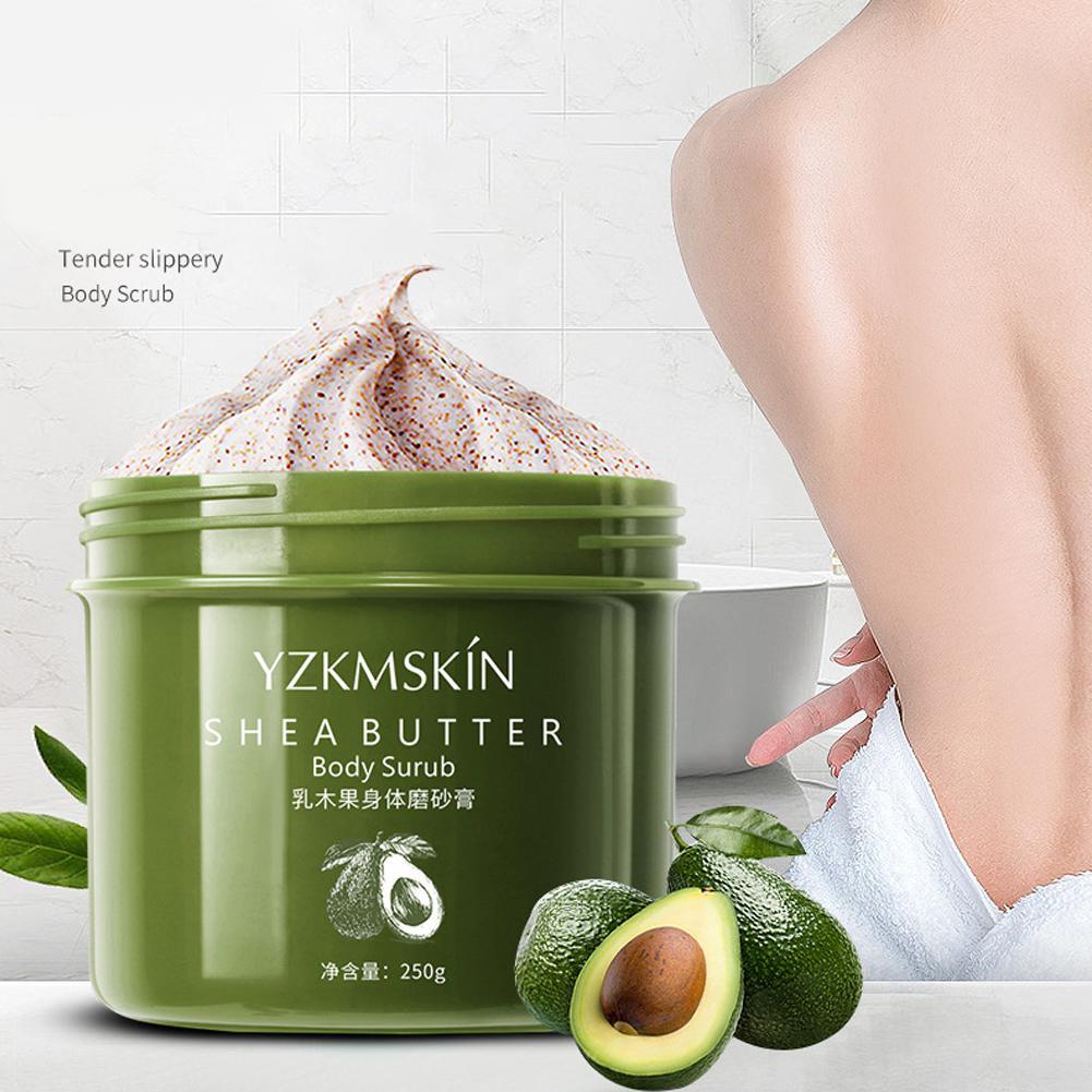 HobbyLane Shea Butter Body Scrub Cream Deep Exfoliator Gel Scrub Smooth Whitening Nicotinamide Body Scrub Exfoliating Body Care