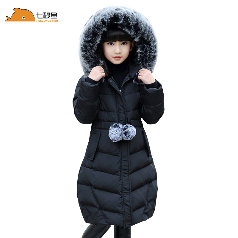 -30 degrees Girls clothing warm Down jacket for girl clothes 2019 Winter Thicken Parka Fur Hooded Children Outerwear Coats