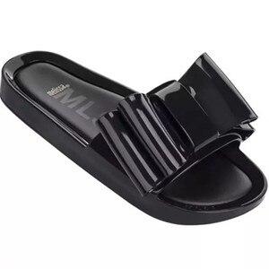 Melissa Women Slippers Bow Slides Summer Beach Shoes Woman Slippers Flat Heels Flip Flops Ladies Rihanna Bohemia Melissa Sandals(China)