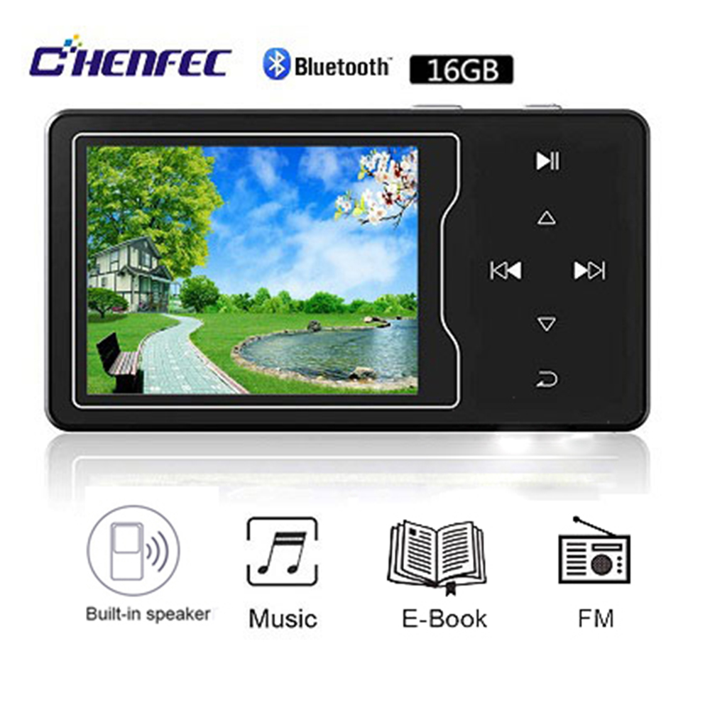 CHENFEC C03 MP3 Video Player With Bluetooth4.0 High Screen 2.4 Full HD Video,FM Radio,Built-in Speaker,Up To 128GB TF Card Mp3