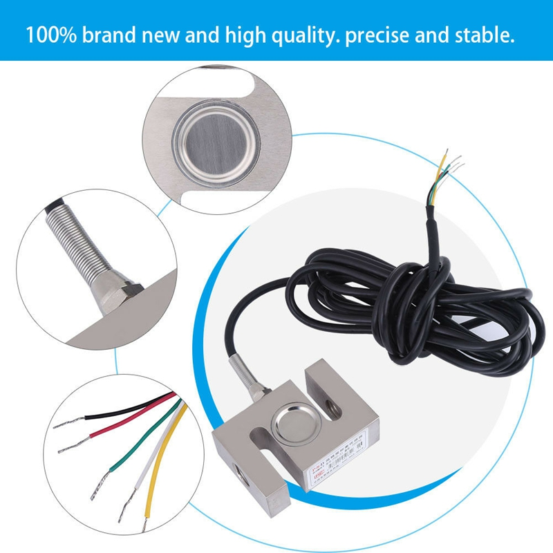 High Precision Scale Weighting Sensor Metal Load Cell S Type 1000kg//2204lb