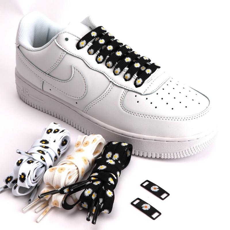 Little Daisies Shoelaces Cartoon Printing Fashion Women Men Shoes Laces High-top Canvas Sneakers Shoelace AF1 Sports Shoelaces