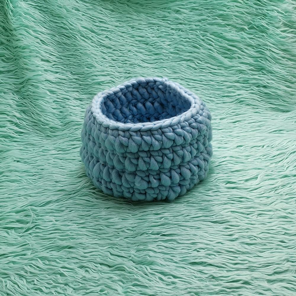 faux fur 150*100cm Newborn size Blanket backdrop+Honey Pot Nest Basket  Basket Knitting Braid Stuffer Shape for Newborn Shooting