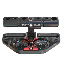 Spirit Beast Motorcycle Multi functional Bracket with Timemeter Thermometer Motocross Handlebar Riser Extension Creative Clock