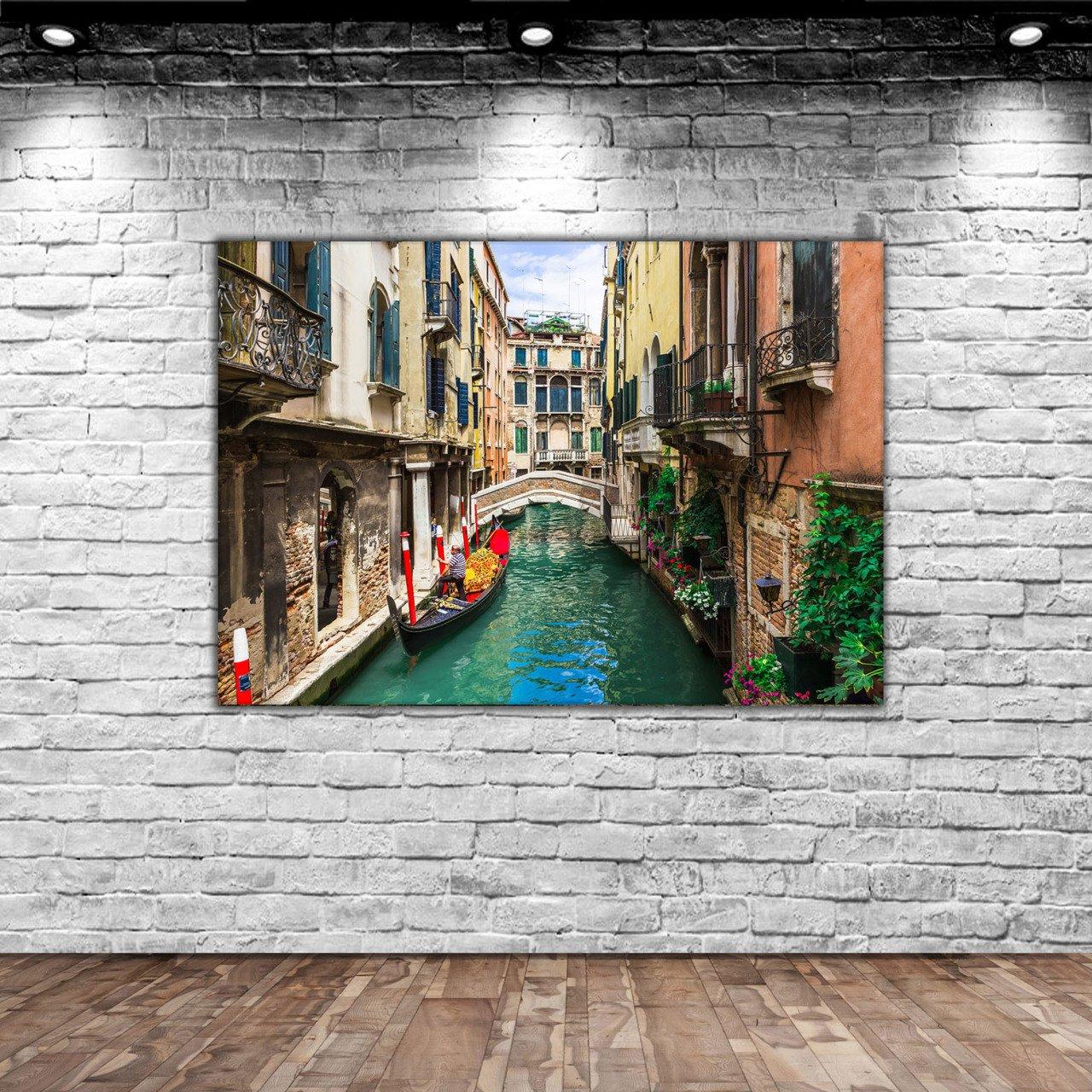 BK Home Venice Canvas Tablo-2 Modern Convenient Reliable Decoration Gift Quality Design Simple Cool Black Color