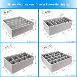 Image 5 - 4pcs Foldable Multipurpose Drawer Organizer Divider Storage Box Case Closet Clothes Underwear Socks Panty Organizer Dropshipping