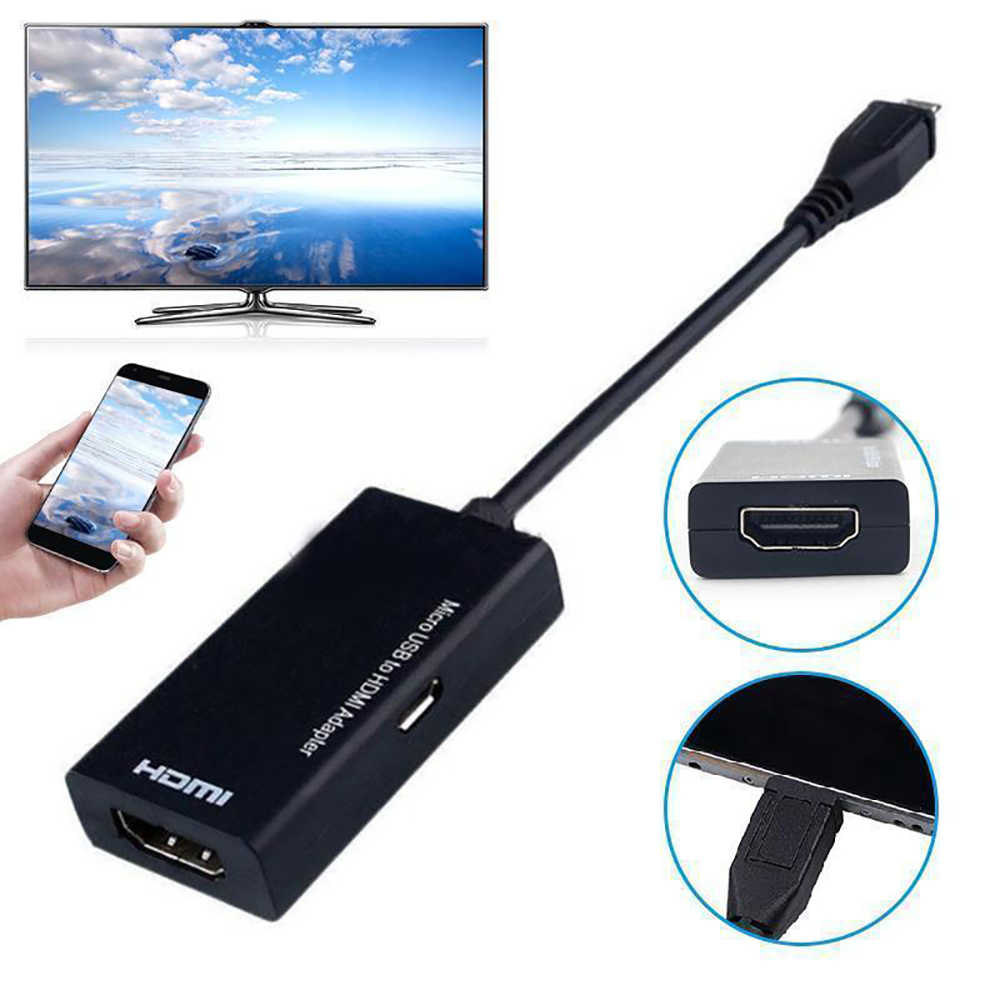 Type C & Micro Usb Male Naar Hdmi Female Adapter Kabel Converter Connector Voor Cellphone Tablet Tv Voor Huawei Xiaomi smart Telefoon