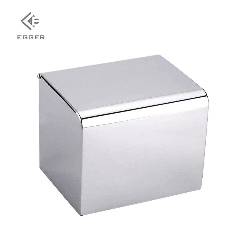 EGGER ห้องน้ำสแตนเลสกล่องกระดาษทิชชู Non Perforated ROLL กระดาษกระบอก 304 สแตนเลส Hand Holder