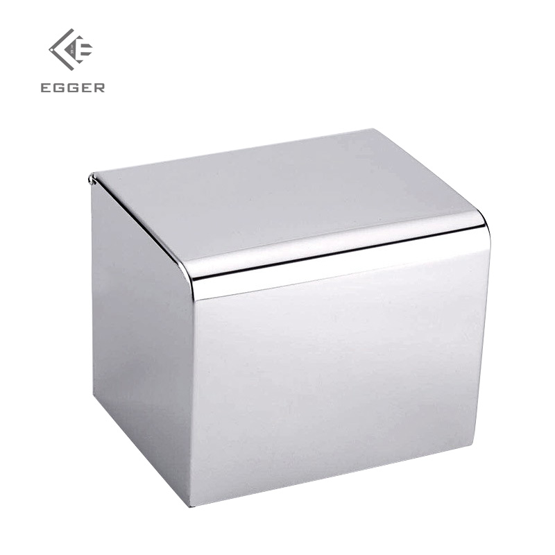 EGGER Toilet Stainless Steel Tissue Box Non Perforated Roll Paper Cylinder 304 Stainless Steel Hand Towel Holder