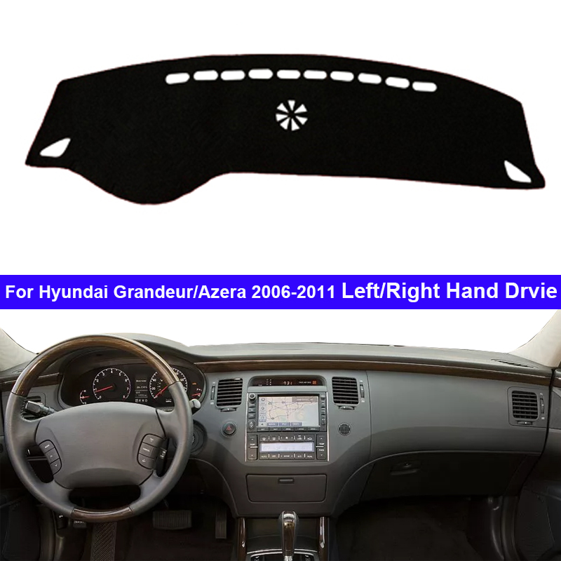Car Auto Inner Dashboard Cover For Hyundai Grandeur Azera 2006 - 2011 LHD RHD Dash Mat Carpet Cape Dashmat Sunshade Anti-sun