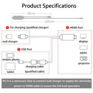 Image 3 - MHL HDMI ケーブル Android のタブレット用スマートフォン携帯電話 Xiaomi Redmi 8 Samung S10 Lite Huawei 社の名誉 20 HDTV HDMI 充電器