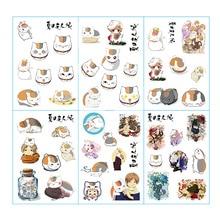 6pcs/lot Natsume Yuujinchou Anime Stickers Pegatinas Book Sticker Pack Classic Toys Skateboard Doodle Sticker Toys